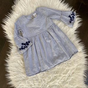 Baby Gap Embroidered Bell Sleeve Dress